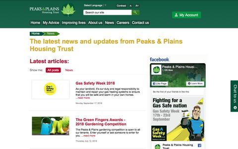 Screenshot of Press Page peaksplains.org - News - captured Sept. 25, 2018