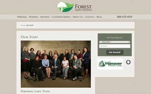 Screenshot of Team Page forestagency.com - Our Staff | Forest Agency Inc. - captured Oct. 1, 2014