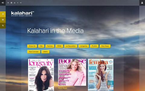Screenshot of Press Page kalaharilifestyle.com - Kalahari in the Media Archives - Kalahari - captured Sept. 30, 2014