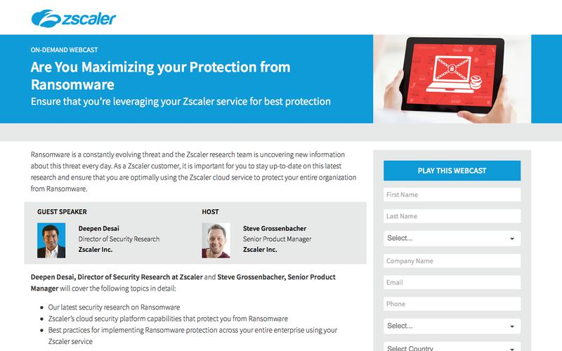 Are You Maximizing your Protection from Ransomware   Zscaler