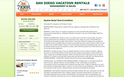 Screenshot of Terms Page 710beachrentals.com - 710BR - Rental Terms - captured Oct. 1, 2014