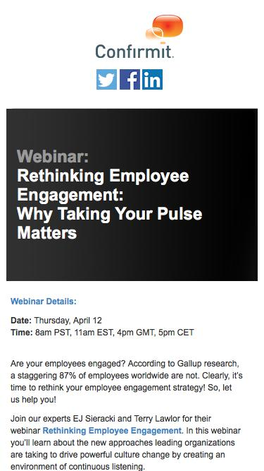 Webinar: Rethinking Employee Engagement: Why Taking Your Pulse Matters