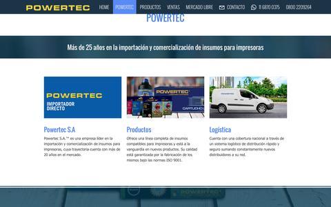 Screenshot of Home Page powertec.com.ar - POWERTEC S.A - captured Nov. 9, 2016