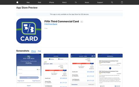 Fifth Third Commercial Card on the App Store