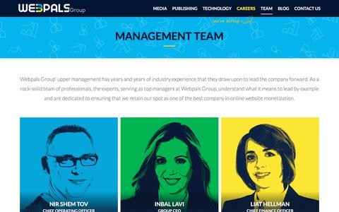 Screenshot of Team Page webpals.com - Webpals Group Management - captured Sept. 20, 2018