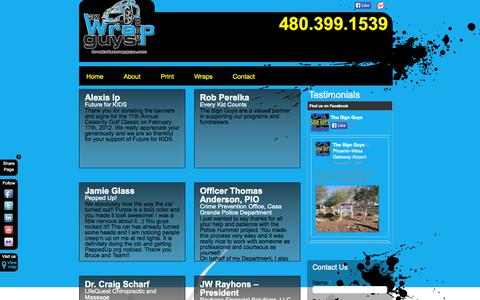 Screenshot of Testimonials Page azsignguys.com - Testimonials | The Sign Guys - captured Oct. 6, 2014