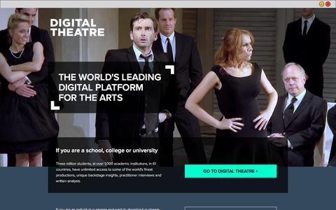Screenshot of Login Page digitaltheatre.com - Log in / Register - captured May 9, 2017