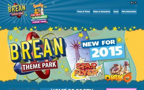 Screenshot of Home Page breanthemepark.co.uk - Home • Brean Theme Park - captured Oct. 10, 2015