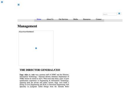 Screenshot of Team Page nimc.gov.ng - National Identity Management Commission  » Management - captured Oct. 23, 2017