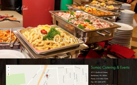 Screenshot of Contact Page sumaccatering.com - Contact - Sumac Catering - captured Aug. 16, 2016