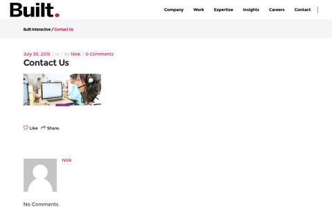 Screenshot of Contact Page builtinteractive.com - contact us - Built Interactive - captured Nov. 23, 2016