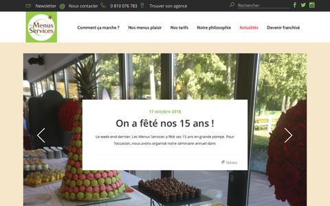 Screenshot of Blog les-menus-services.com - Nutrition et alimentation chez les personnes âgées - Blog - captured Oct. 21, 2018