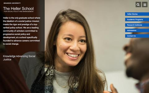 Graduate School for Social Policy and Management | The Heller School at Brandeis University