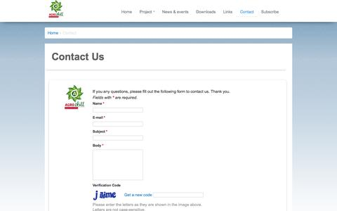 Screenshot of Contact Page agroskill.eu - AGROSKILL - captured Oct. 27, 2014