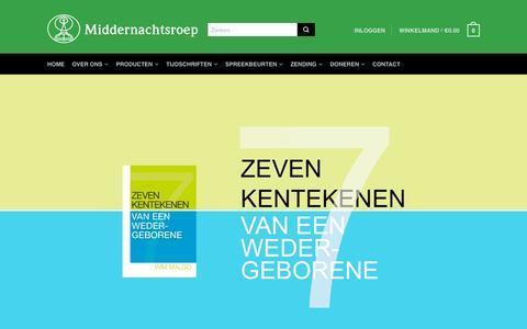 Screenshot of Home Page middernachtsroep.nl - Homepage | Middernachtsroep - captured Aug. 10, 2016