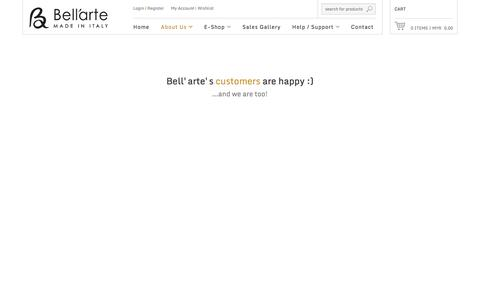 Screenshot of Testimonials Page be-bellarte.com - Malaysia Be-Bellarte Hand Crafted Italian Handbag - captured Oct. 5, 2014