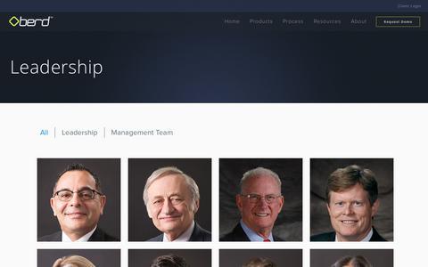 Screenshot of Team Page oberd.com - OBERD - Leadership - captured Dec. 2, 2016
