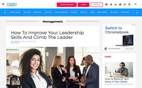 Screenshot of Team Page workitdaily.com - (1) New Message! - captured Sept. 16, 2019