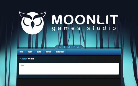 Screenshot of Team Page moonlit.pl - Our Team - Moonlit Games Studio - captured Nov. 3, 2014
