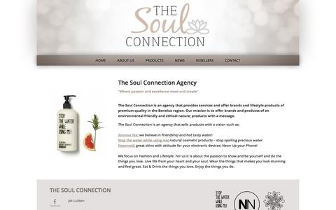 Screenshot of Home Page thesoulconnection.nl - Home | The Soul Connection - captured Oct. 6, 2014