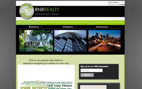 Screenshot of Home Page rnrrealty.com - RNR Realty International-Twin Cities, MN - captured Oct. 10, 2015