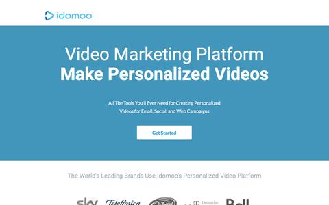 Screenshot of Landing Page idomoo.com - Create, Measure and Monetize Personalized Videos - captured Aug. 20, 2016