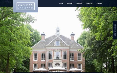 Screenshot of Home Page vandammakelaars.nl - Makelaar Utrechtse Heuvelrug- Van Dam Makelaars - Van Dam Makelaars - captured Oct. 19, 2018