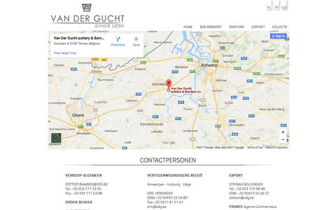 Screenshot of Contact Page vdg.be - CONTACT - captured Oct. 19, 2017