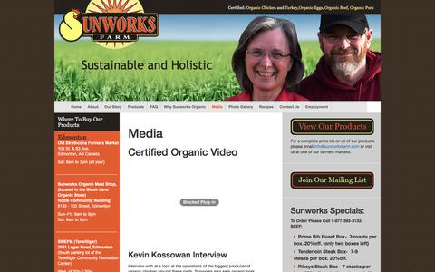 Screenshot of Press Page sunworksfarm.com - Media - Sunworks FarmSunworks Farm - captured Dec. 11, 2016