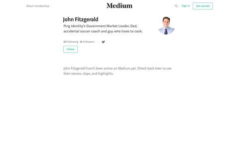 John Fitzgerald – Medium