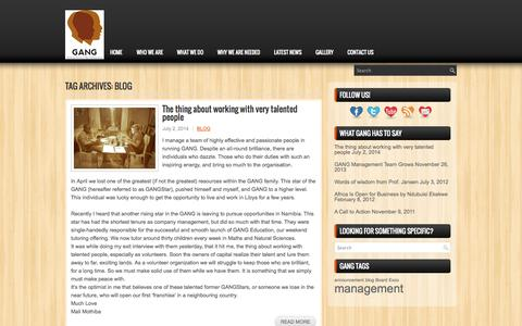 Screenshot of Blog gang.org.za - blog | GANG - Guiding Africa's Next Generation - captured Oct. 1, 2014