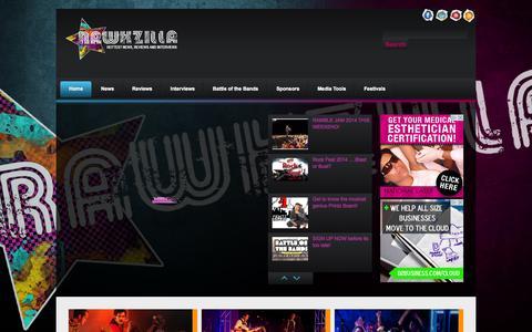 Screenshot of Home Page rawkzilla.com - Rawkzilla | Hottest News, Reviews and Interviews - captured Sept. 30, 2014