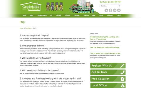 Screenshot of FAQ Page goodchilds-uk.com - FAQ's | Goodchilds Estate Agents & Lettings | Goodchilds - captured Oct. 3, 2014