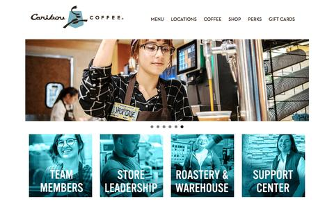 Screenshot of Jobs Page cariboucoffee.com - Careers – Caribou Coffee - captured Feb. 6, 2020