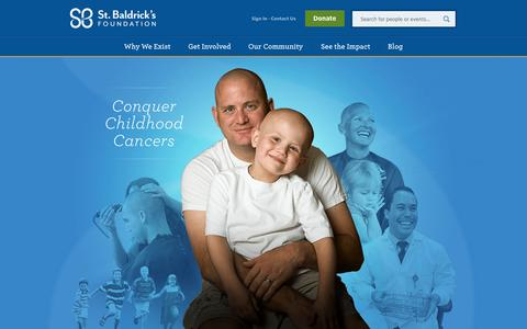 Screenshot of Home Page stbaldricks.org - St. Baldrick's Foundation - captured Sept. 18, 2014