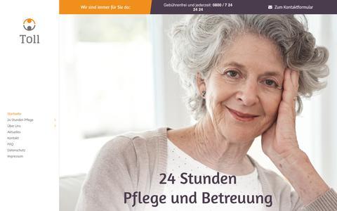Screenshot of Home Page toll-betreuung.de - 24 Stunden Pflege, immer an Ihrer Seite | Toll Betreuung und Pflege - captured June 20, 2018