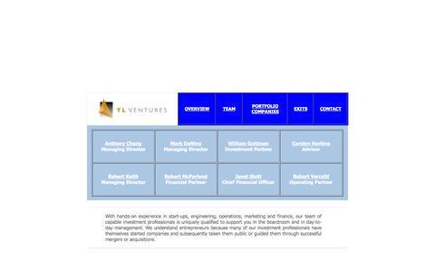 Screenshot of Team Page tlventures.com - TL Ventures - captured Oct. 9, 2014