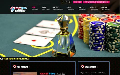 Screenshot of Home Page bestgoacasino.com - Casino Pride - captured Sept. 29, 2016