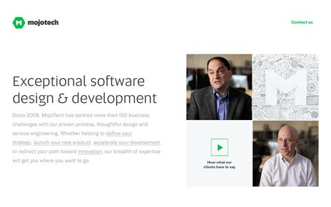 Web and mobile app development, Software development and design | MojoTech - Providence, Boulder, New York, Washington DC