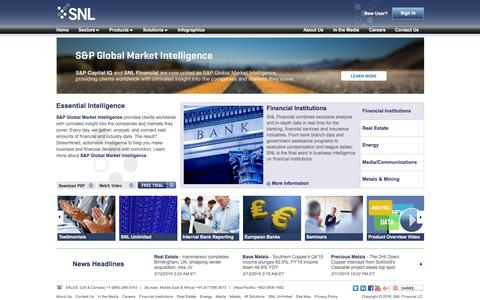 Business Intelligence Services | SNL Financial