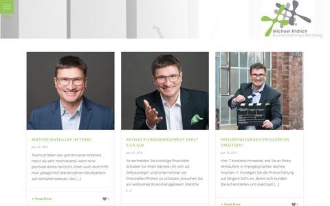 Screenshot of Press Page einfach-klartext.de - News – Michael Fridrich Businesstraining & Beratung - captured Oct. 1, 2016