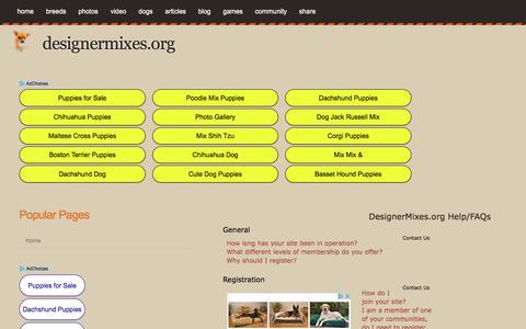 Screenshot of FAQ Page designermixes.org - DesignerMixes.org Help/FAQs - captured Oct. 28, 2017