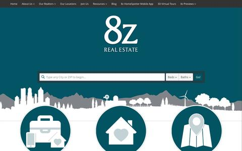 Screenshot of Home Page 8z.com - 8z Real Estate - Colorado Home Search and Real Estate Agents - captured April 14, 2017