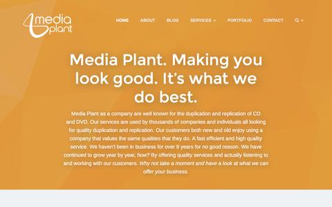 Screenshot of Home Page mediaplant.co.uk - Media Plant CD Duplication CD Replication DVD Replication - captured Feb. 12, 2016