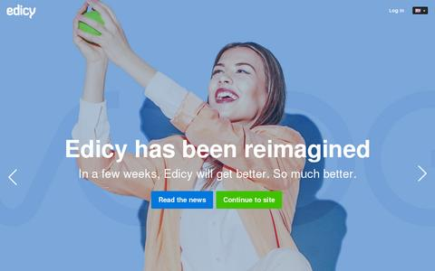 Screenshot of Home Page edicy.com - Edicy — Create a Website — Easy to use Website Builder - captured July 10, 2014
