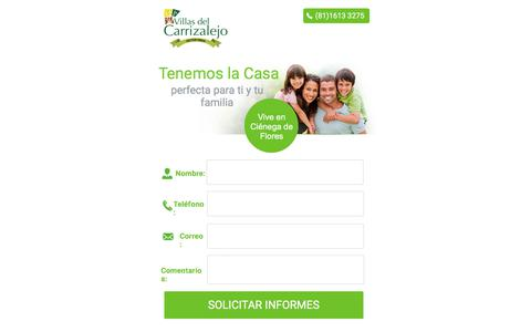 Screenshot of Landing Page pagewiz.net - Villas del Carrizalejo, Casas en Ciénega de Flores - captured April 13, 2018