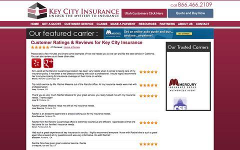 Screenshot of Testimonials Page keycityinsurance.com - Customer Testimonials & Reviews - Key City Insurance - captured Sept. 30, 2014