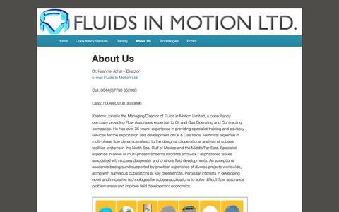 Screenshot of Contact Page fluidsinmotion.com - About Us | Fluids In Motion Ltd - captured Nov. 25, 2016