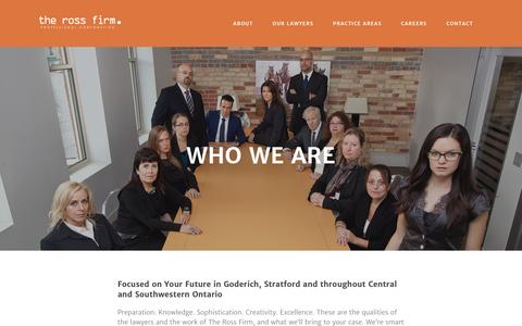 Screenshot of About Page rossfirm.com - About — The Ross Firm - captured Feb. 15, 2016