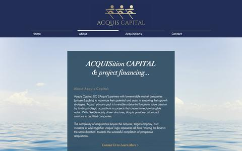 Screenshot of About Page acquiscapital.com - About | Acquis Capital - captured Oct. 7, 2017